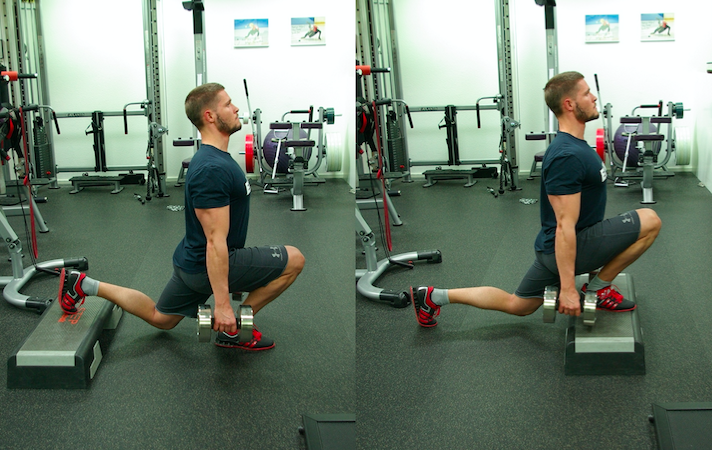 Split Squat SplitSquat Front Foot elevated back YPSI Wolfgang Hattingen Unsoeld Gym