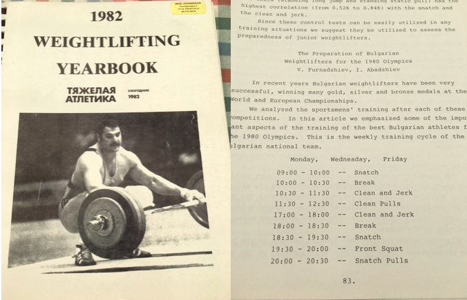 Bulgarian Weightlifting Russian Yearbook YPSI Gewichtheben